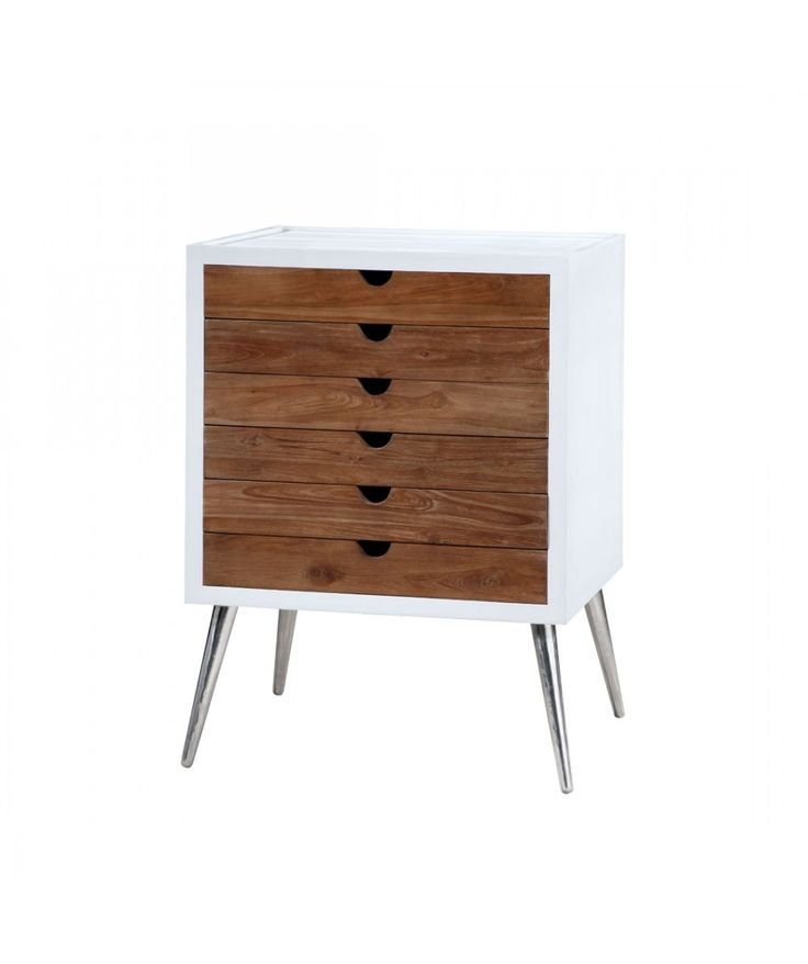 Moderno - 6 Drawer Teak Cabinet | Home Office Furniture - Easterly