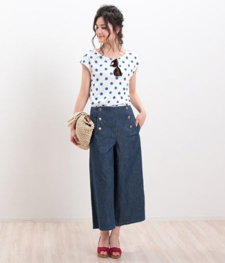 爽やか♪ポルカドットコーデの参考にしたいスタイル・ファッションアイデアまとめ♡