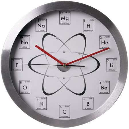 This Chemistry Clock Makes Time of the Element #homedecor trendhunter.com