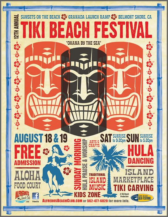 Tiki Beach Festival | Alfredo's Beach Club - August 18 & 19, 2012 Tiki Bar, Tiki Mug, Tiki Décor, Tiki Art!