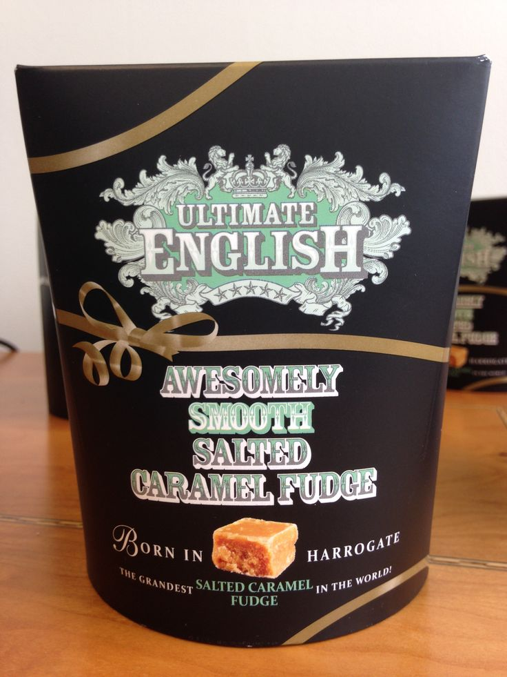 Our awesomely smooth salted caramel fudge