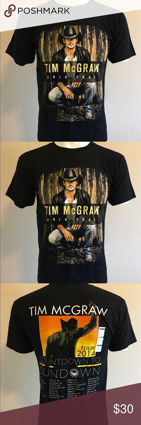 "NWOT Tim McGraw 2014 Tour Shirt Tim McGraw Tour Shirt  Short Sleeve   •armpits 18"" •length 26"" -A12- Tim McGraw Tops Tees - Short Sleeve"