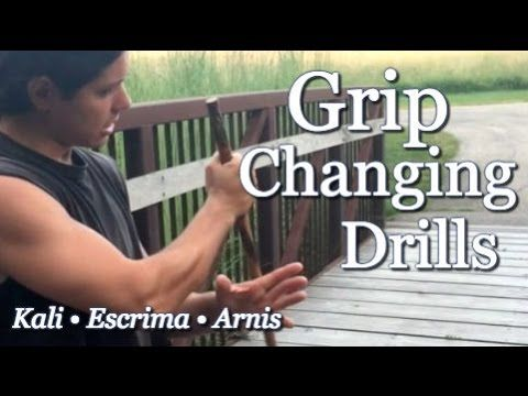 Changing Grips with Escrima Sticks - Great Drill: Filipino Martial Arts,...