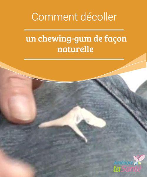 Comment #décoller un chewing-gum de façon #naturelle Vous pouvez retirer le #chewing-gum collé grâce à des recettes #maisons utiles et efficaces. Essayez !