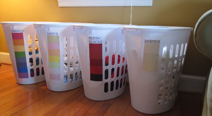 Colorful Laundry Solution four baskets