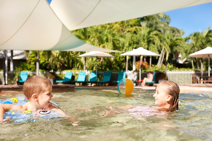 Seashells Broome has a large swimming pool, and a separate children's paddling pool #family #travel #holiday