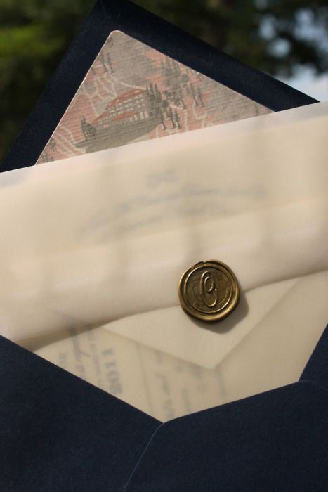 Envelope Wax Seals- the clear envelopes this is how I want my invitation packaged. Know where I can feet the glassine envelops? @Celeste