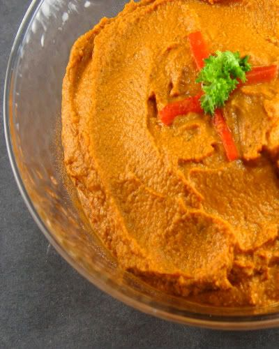 One Perfect Bite: Red Pepper Hummus