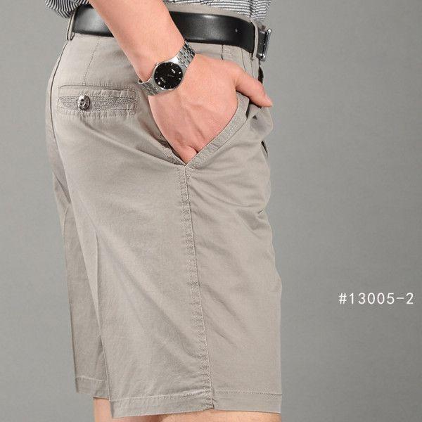 Summer Men Five Pants Shorts Business Casual Loose Straight Shorts
