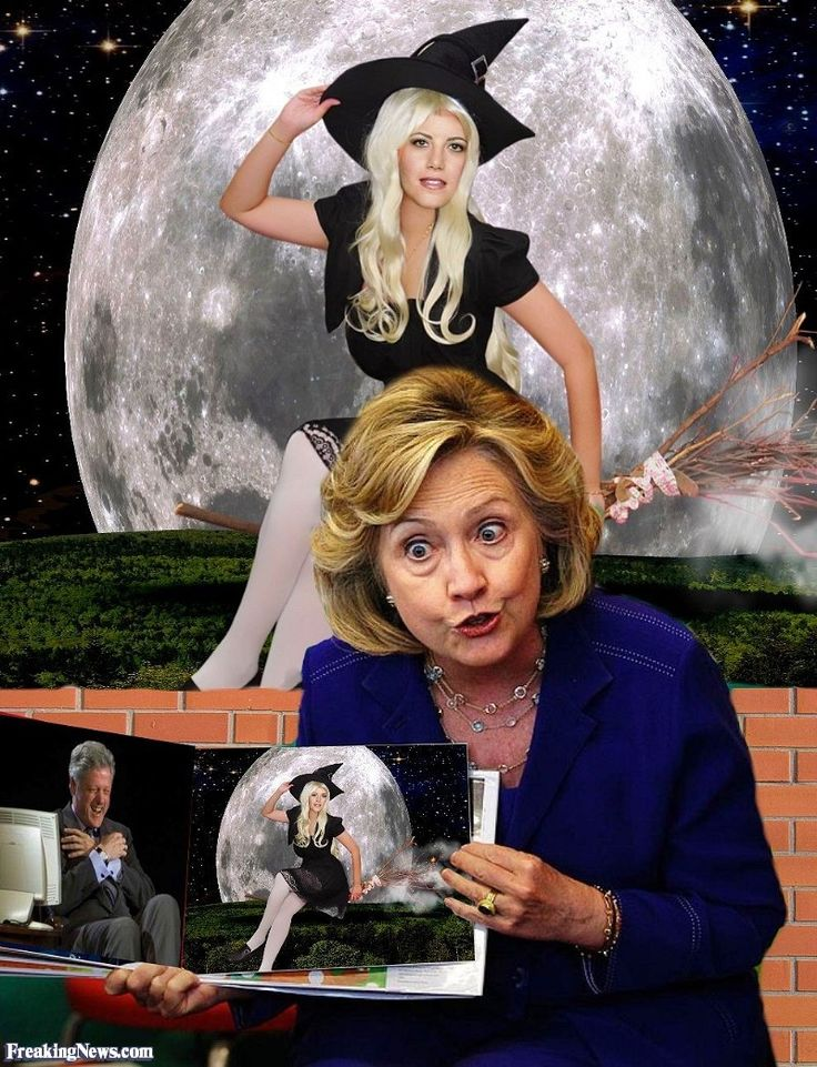 Hillary Clinton's Book Tour with Monica Lewinsky Witch
