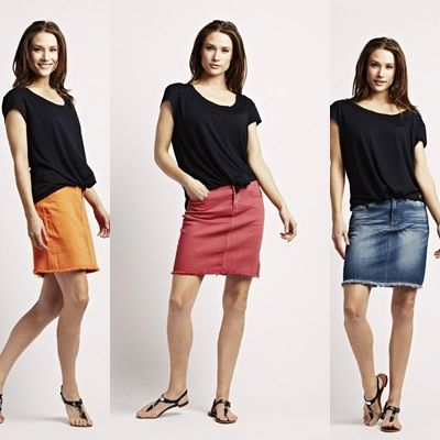 JUST IN: our new Skirts in hot pink, jeans and orange mandarin - from florence with love! <3