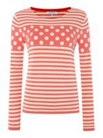 Dickins & Jones Knitted Spot Stripe Jumper Now £25.00    Was £59.00