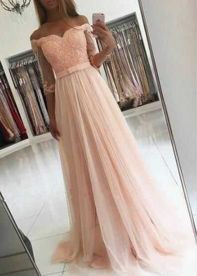 38842f2112716 Charming Prom Dress,Short Sleeve Prom Dress,Cheap Prom Dress,Tulle ...