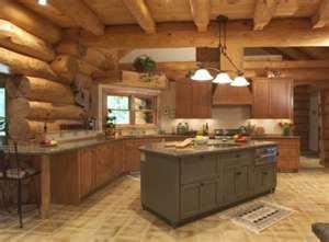 Log Cabins , Log Cabin Homes, Log HomesLogs Cabin Kitchens, Dreams Kitchens, Logs Cabin Home, Log Cabins, Interiors Design, Cabin Interiors, Logs Home Interiors, Home Kitchens, Open Kitchens