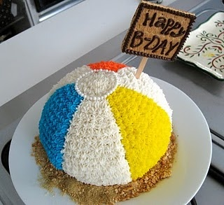 #summer #beach ball #cake  Just finished the cake for Mason's party :)