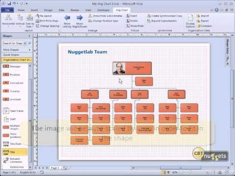 Microsoft Visio 2010 Tutoial for IT Professionals- 05(Creating an Organizational Chart) - YouTube