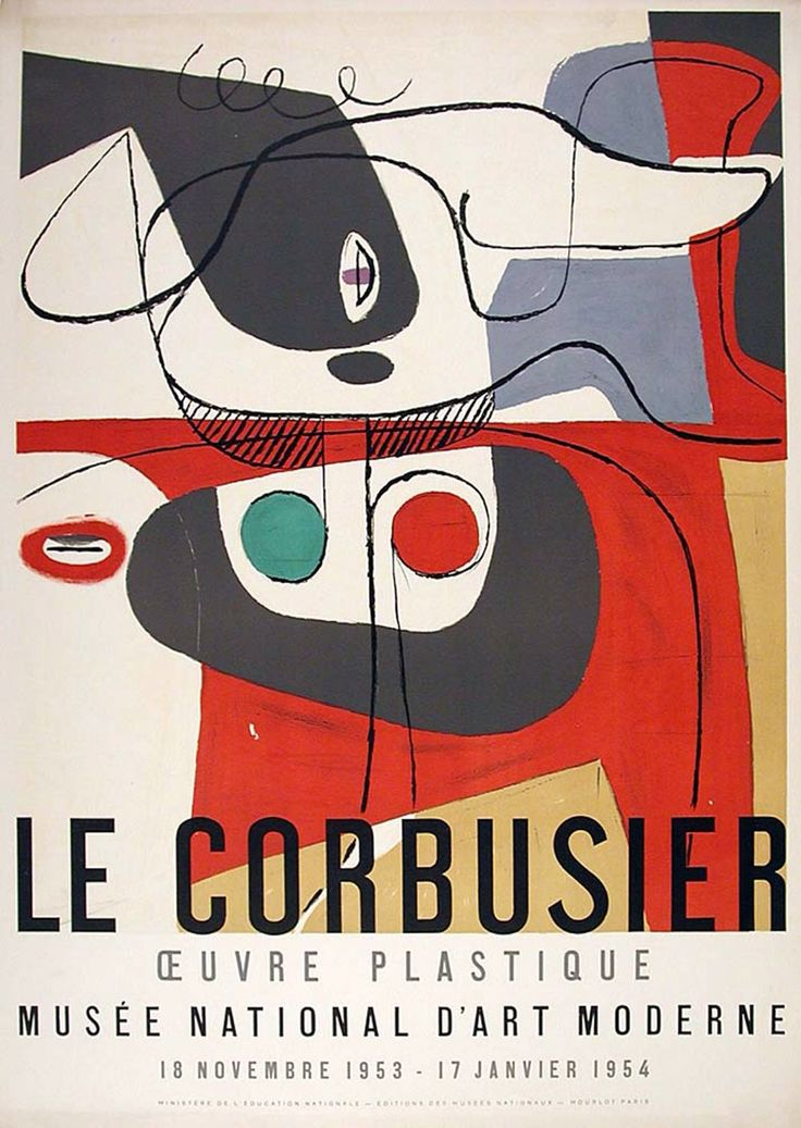 oeuvre plastique 1953 54 exhibition poster mus e. Black Bedroom Furniture Sets. Home Design Ideas