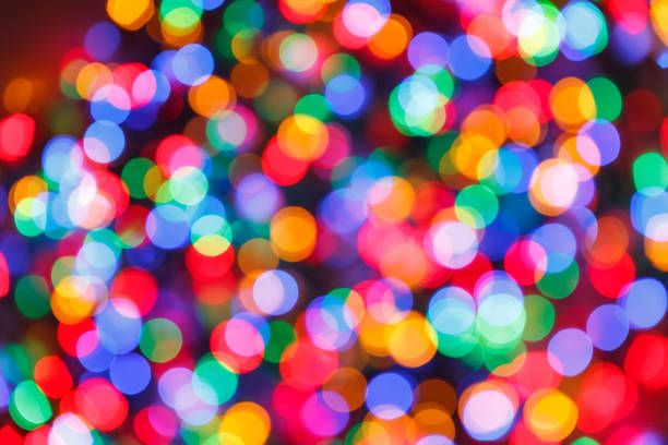 blurred lights background festive design