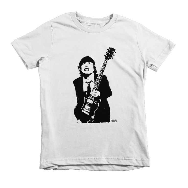 Angus Young Kids T-shirt, AC DC Kids Tshirt, Rock Kids T Shirt, Rock Tees, Toddler Girl Clothes, Toddler Boy Tshirt, 2 to 12 Years, ACDC by MONOFACESoCHILDREN on Etsy