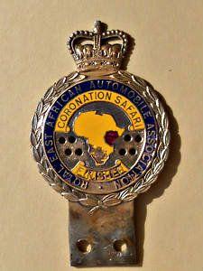 Coronation Safari Rally East Africa Badge 1950s