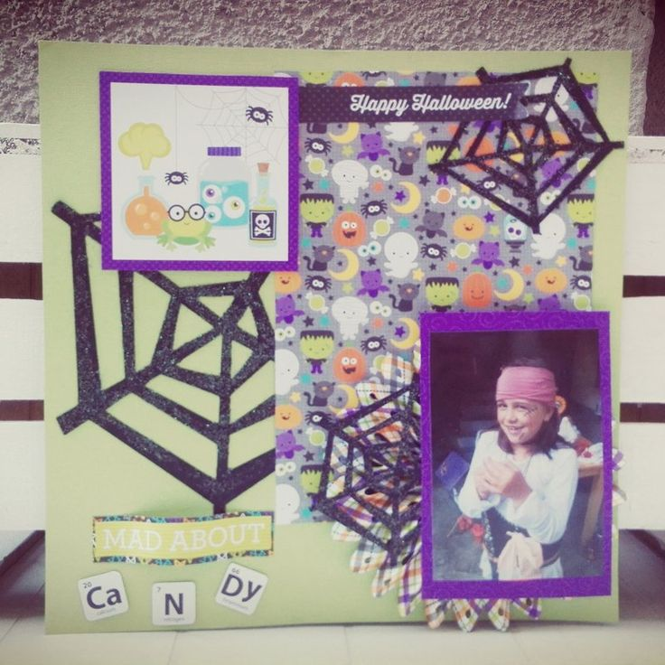 MAD+ABOUT+CANDY+LAYOUT - Scrapbook.com #halloween #halloweenlayout #layout #doodlebugdesign