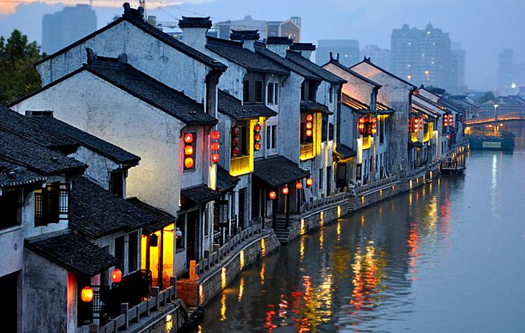 Wuxi Canal sunset- China