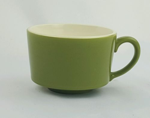MCP-McCoy-Pottery-Green-Coffee-Cup-Mug-8-oz-1967-White-Interior-MCM