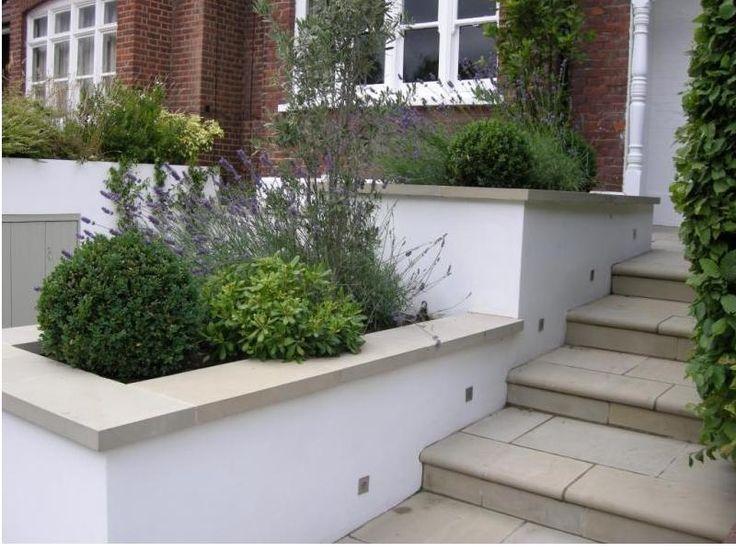Jardineras de concreto y piedra para tu jard n ll manos - Jardineras de cemento ...