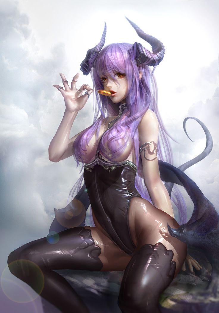 Fantasy art sexy anime girls