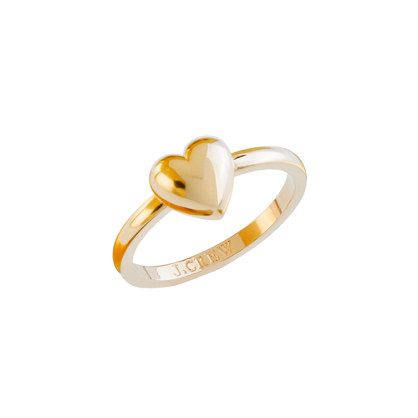 Gold heart ring...so cute but it would look better if it had a tiny diamond....