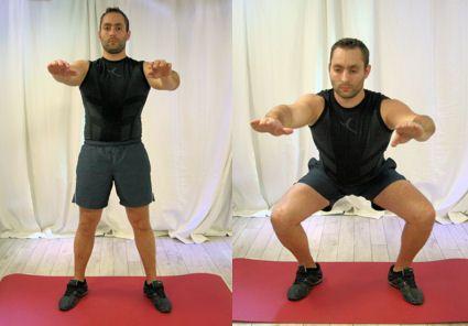 20 exercices pour se muscler le corps : Cuisses : les squats - Linternaute.com Sport