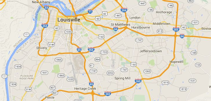 TaxiFareFinder - $14.05 taxi fare from 6509 Watch Hill Road, Louisville, KY 40228, United States to Mid City Mall, Bardstown Road, Louisville, KY, United States using Uber X - Louisville, KY taxi rates