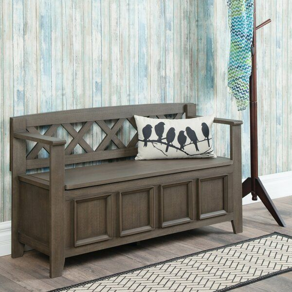 Mccoppin Solid Wood Flip Top Storage Bench In 2020 Entryway Bench Storage Entryway Storage Storage Bench