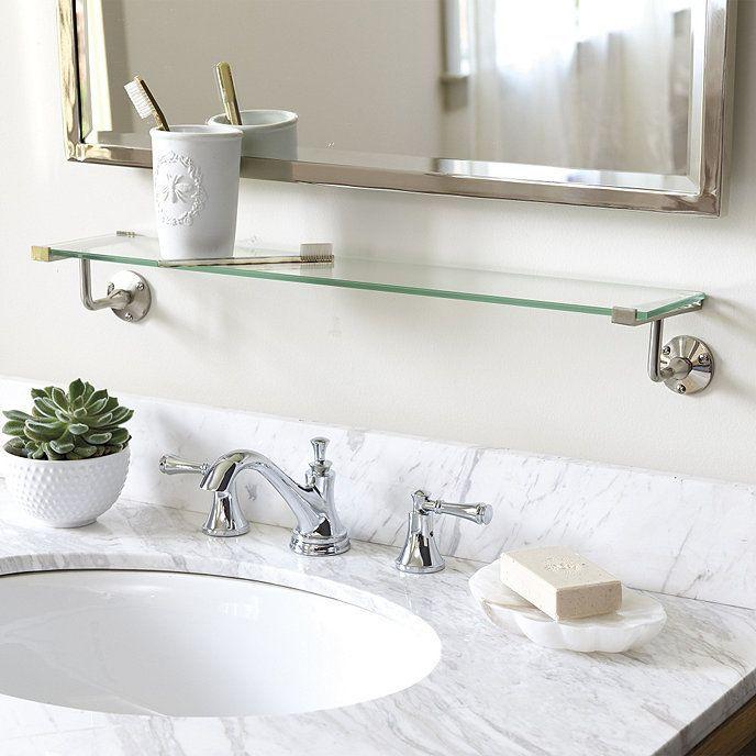 Emmie Glass Shelf In 2020 Glass Shelves In Bathroom Simple