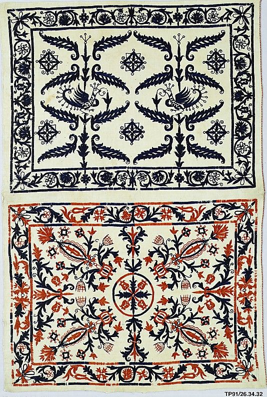 18th century, Greek Islands, Crete, Silk on linen