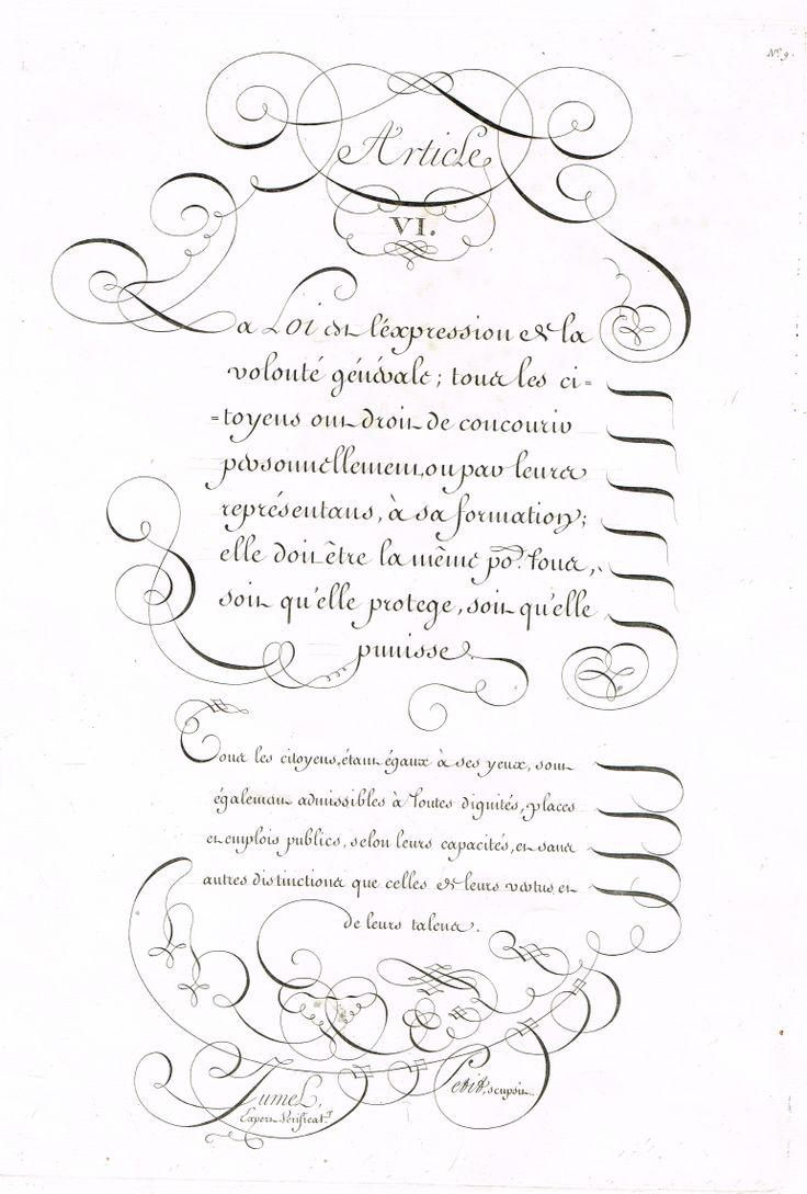 Article 6 : la Loi est l'expression de la volonté générale... elle doit être la même pour tous... MAS Estampes Anciennes - Antique Prints