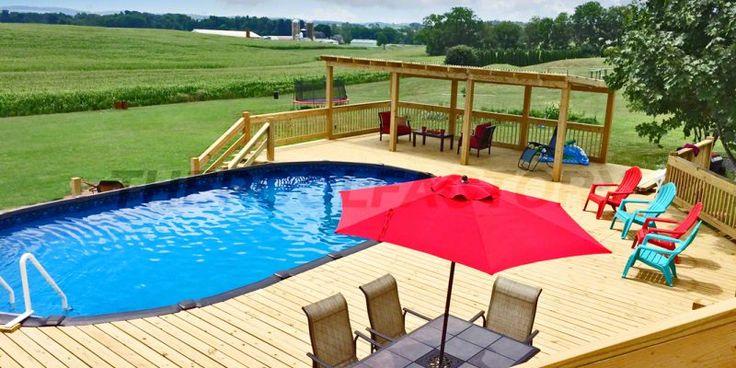 Fotos de instalação de piscina acima do solo   – Pool decks