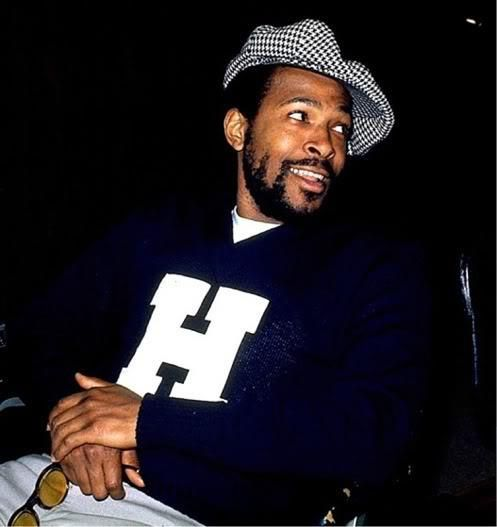 Marvin Gaye, wearing a #Howard University sweatshirt. #HU