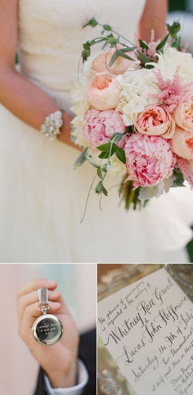 Prachtig bruidsboeket met pioenrozen; die wil ik ook!!