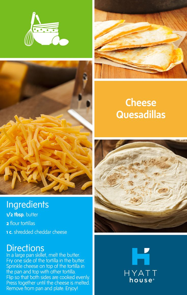 When it comes to easy recipes, the cheese quesadilla takes the prize for being one of the simplest — and tastiest! — to prepare in our fully-fitted kitchens.