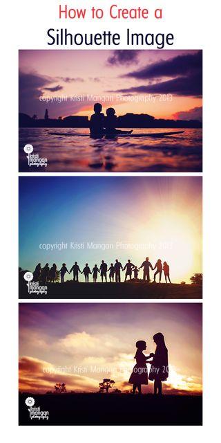 How to create a silhouette / Kristi Mangan Photography Blog #silhouette #photographytip #kristimanganphotography