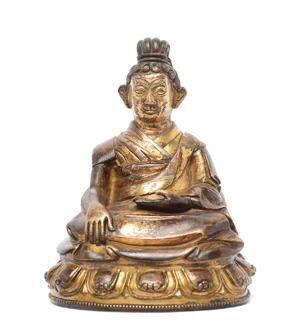铜鎏金大成就者 创作年代 明 尺寸 ↑13cm 估价 60,000 - 80,000 HKD 作品分类 佛教文物其它 作品描述 [大成就者] 所谓大成就者,即八十四位在印度大乘经论弘扬时,得证悟道之士。在佛教历史上,地位特殊而重要,通过他们的生平和修行故事,展示佛法千百年来的开创与承传,其造像被视为藏传佛教中的珍物。 拍卖公司 普艺拍卖有限公司 拍卖会 S482南窗集雅-宗教艺术主题拍卖会 专场名称 宗教艺术主题拍卖会