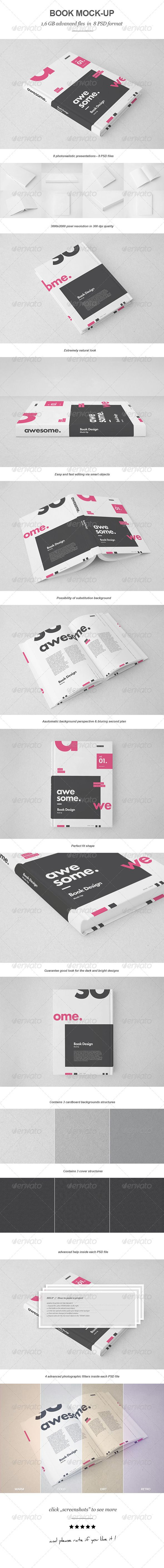 14 best book mock up set images on Pinterest | Book covers, Cover ...
