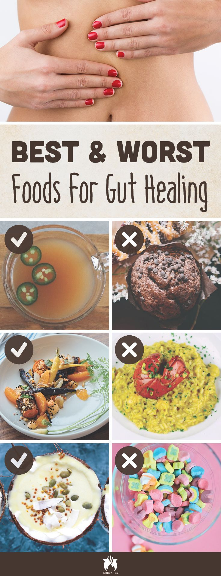 When it comes to improving your gut health, there's nothing more important than what goes on your plate. Here are the best and the worst foods for your gut.