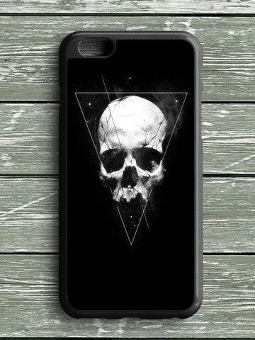 Black White Triangel Skull iPhone 6S Plus Case