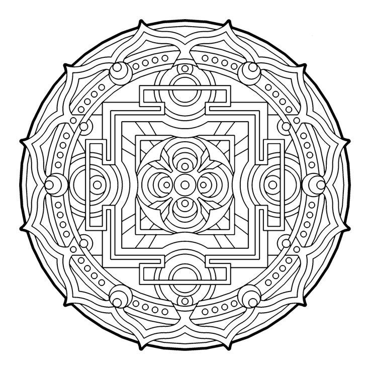 sacred rooms mandala colouring page