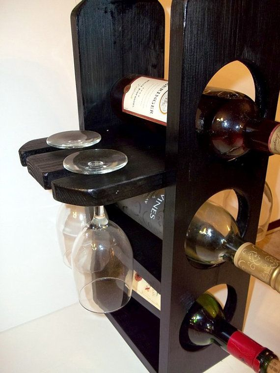 unique wine rack stemware rack in satin black by