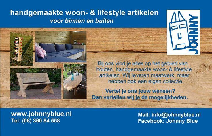 www.johnnyblue.nl - handgemaakte, houten meubels voor binnen en buiten