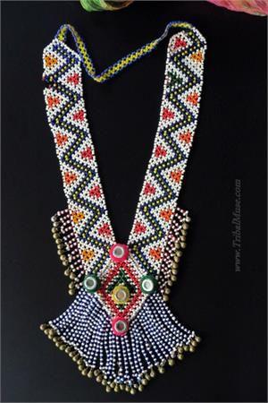 Large Vintage Kuchi Beaded Tribal Necklace