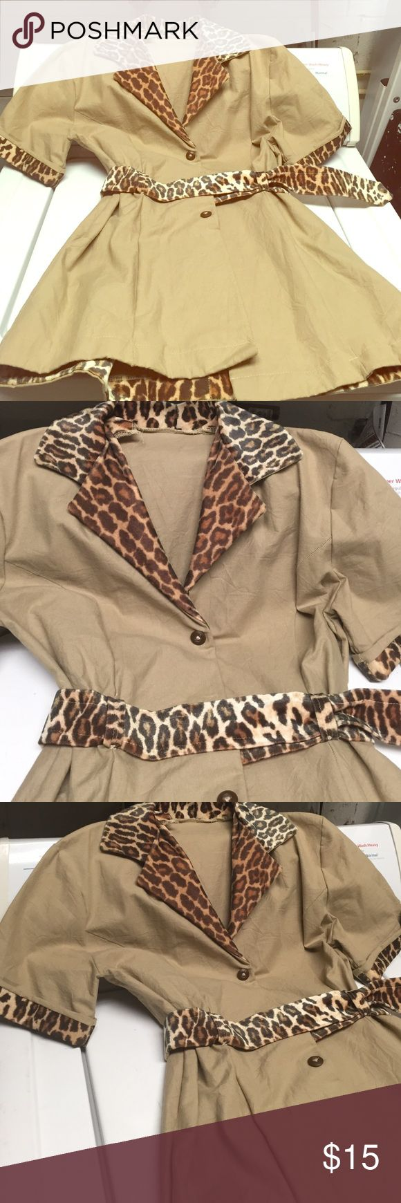 Sexy cheetah costume, can also be worn as jacket Oils so hot Jackets & Coats